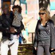 Samedi : Heidi Klum et son mari Seal en balade avec l'un des enfants