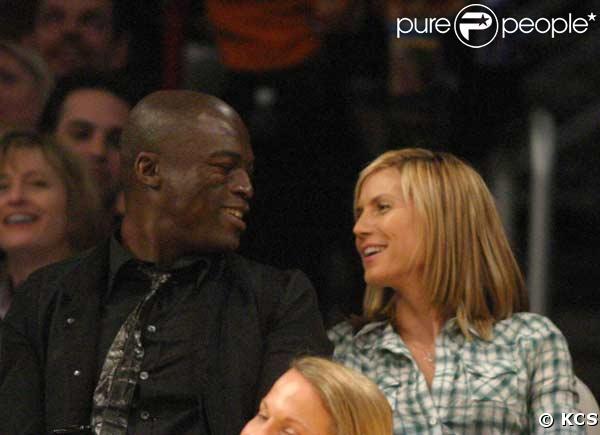 vendredi : Heidi Klum et son mari Seal au match Lakers /Pacers