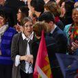 Gabrielle Guallar, la compagne de Benoît Hamon, et Christiane Taubira assistent au meeting de Benoît Hamon à l'AccorHotels Arena à Paris, France, le 19 mars 2017 © Lionel Urman/Bestimage