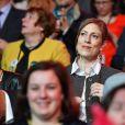 Gabrielle Guallar, la compagne de Benoit Hamon. Meeting de Benoît Hamon à l'AccorHotels Arena à Paris, France, le 19 mars 2017 © Lionel Urman/Bestimage