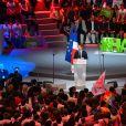 Benoît Hamon, candidat du Parti Socialiste (PS) à l'élection présidentielle 2017, lors de son meeting à l'AccorHotels Arena de Paris, France, le 19 mars 2017. © Lionel Urman/Bestimage
