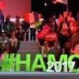 Atmophère lors du meeting de Benoît Hamon, candidat du Parti Socialiste (PS) à l'élection présidentielle 2017, à l'AccorHotels Arena de Paris, France, le 19 mars 2017. © Lionel Urman/Bestimage