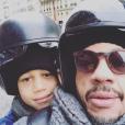 """""""JoeyStarr et son fils Khalil (9 ans) sur une photo publiée sur Instagram le 6 mars 2017"""""""