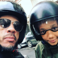 """""""JoeyStarr et son fils Mathis (alias Elhadj, 11 ans) sur une photo publiée sur Instagram le 14 février 2017"""""""