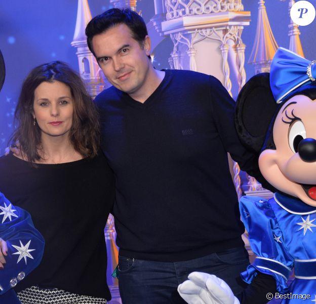 Faustine Bollaert et son mari Maxime Chattam - 25 ème anniversaire de Disneyland Paris à Marne-La-Vallée le 25 mars 2017 © Veeren Ramsamy / Bestimage
