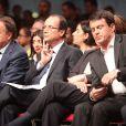 Jean-Pierre Bel, Francois Hollande, Manuel Valls, Julie Gayet à Paris, le 22 octobre 2011.