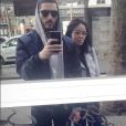 Agathe Auproux et son petit ami Boris, en mars 2017.