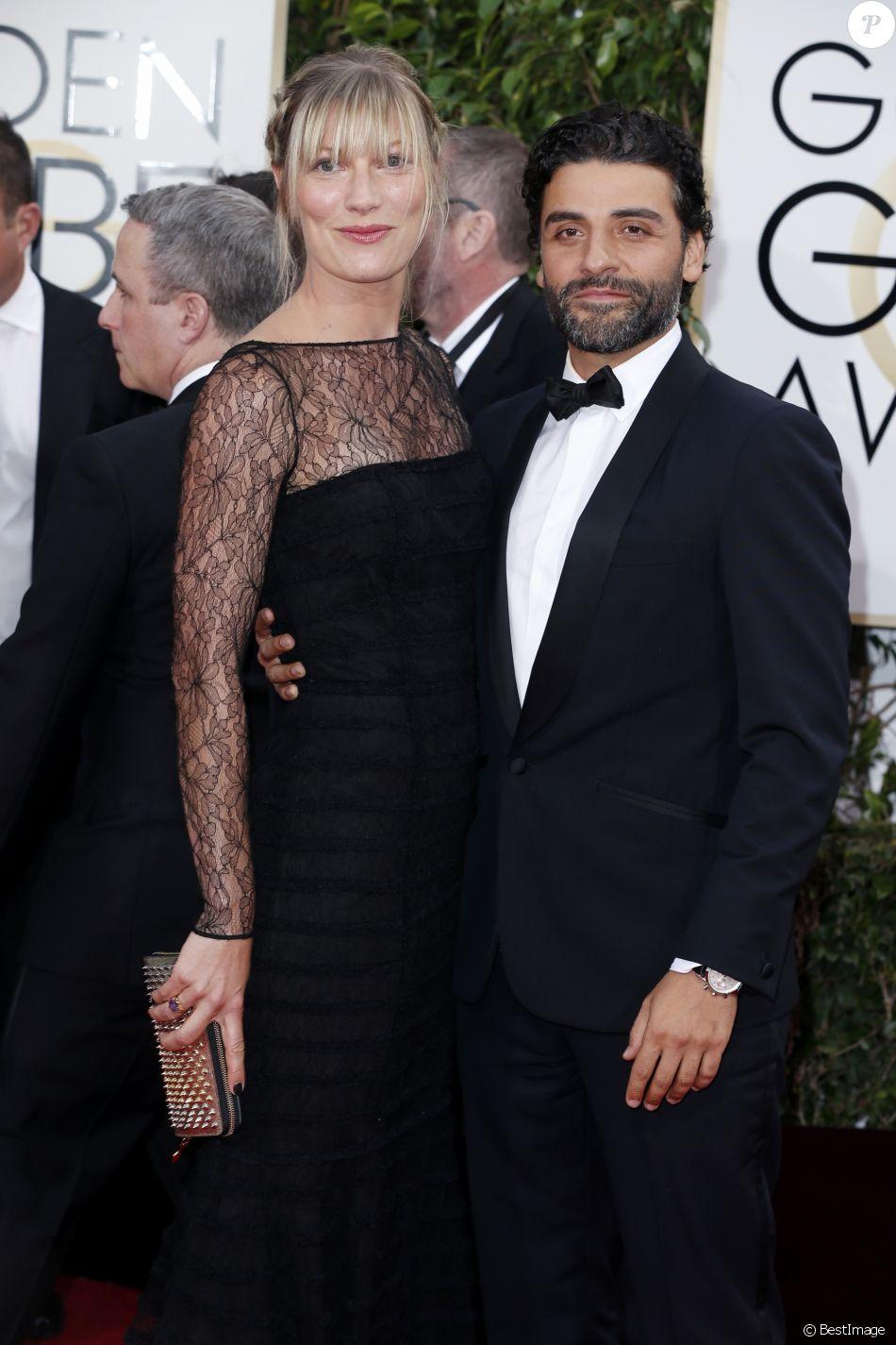 Oscar Isaac et sa compagne Elvira Lind - La 73ème cérémonie annuelle des Golden Globe Awards à Beverly Hills, le 10 janvier 2016.