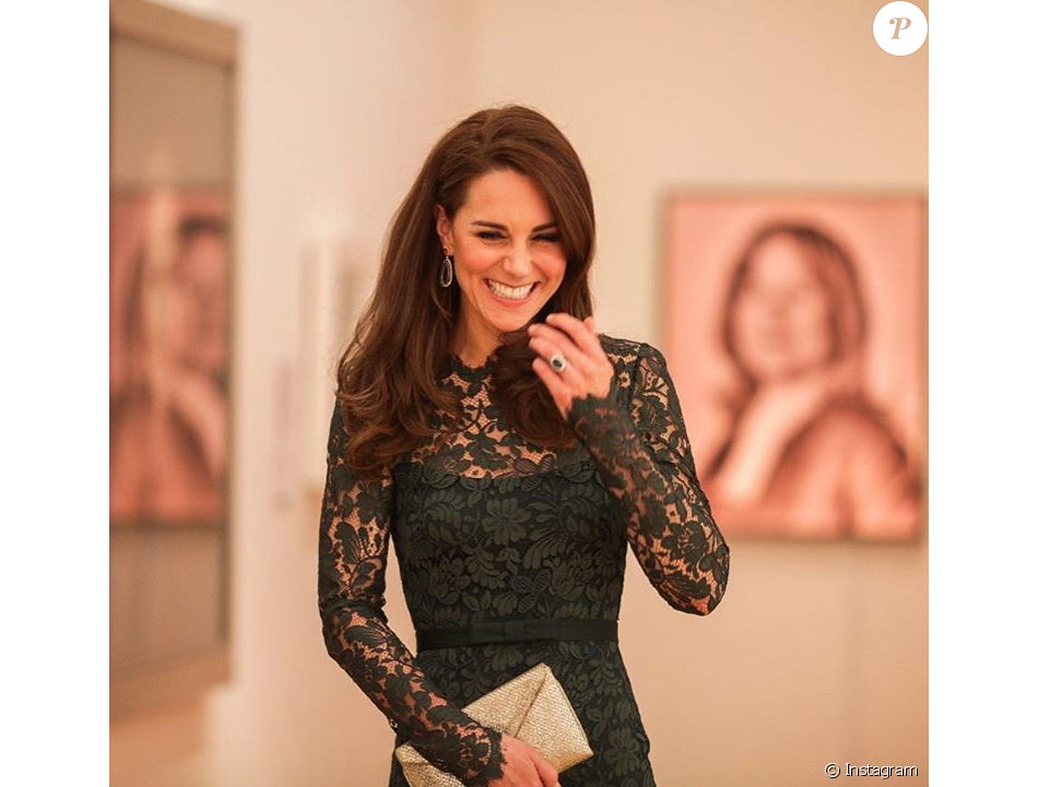 La duchesse Catherine de Cambridge au gala de bienfaisance de la National Portrait Gallery, dont elle est la marraine, à Londres le 28 mars 2017. Photo Instagram Kensington Royal.