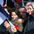 Marie Fillon, la fille de François Fillon, François Fillon et sa femme Penelope Fillon - Rassemblement de soutien à François Fillon, candidat du parti Les Républicains à la présidentielle, Place du trocadéro à Paris le 5 mars 2017.