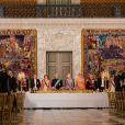 Le prince héritier Joachim de Danemark, la princesse Mary de Danemark, le roi Philippe de Belgique, la reine Margrethe II de Danemark, la reine Mathilde de Belgique, le prince Frederik de Danemark, La princesse Marie de Danemark - Le roi Philippe de Belgique et la reine Mathilde de Belgique en visite d'Etat au Danemark, sont invités au banquet d'Etat au Palais de Christiansborg à Copenhague au Danemark le 28 mars 2017.  King Philippe of Belgium & Queen Mathilde of Belgium during a State Visit to Copenhagen in Denmark are attending the State Banquet at Christiansborg Palace in Copenhagen, Denmark on March 28, 2017.28/03/2017 - Copenhague