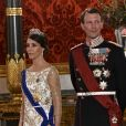 Le prince Joachim de Danemark, la princesse Marie de Danemark - Le roi Philippe de Belgique et la reine Mathilde de Belgique en visite d'Etat au Danemark, sont invités au banquet d'Etat au Palais de Christiansborg à Copenhague au Danemark le 28 mars 2017.  King Philippe of Belgium & Queen Mathilde of Belgium during a State Visit to Copenhagen in Denmark are attending the State Banquet at Christiansborg Palace in Copenhagen, Denmark on March 28, 2017.28/03/2017 - Copenhague