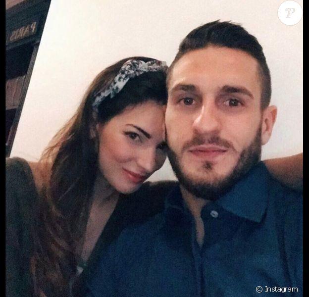 Koke (Atletico Madrid) et sa compagne Beatriz Espejel, photo Instagram mars 2017.