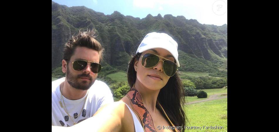 Photo de Scott Disick et Kourtney Kardashian à Hawaï. Avril 2017.