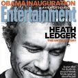 Heath Ledger en couverture d' Entertainment weekly .