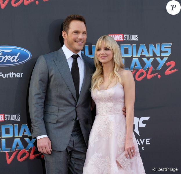 Chris Pratt et sa femme Anna Faris - Avant-première des Gardiens de la galaxie 2 à Hollywood en salles le 19 avril 2017© Chris Delmas/Bestimage