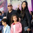 Vin Diesel avec sa compagne Paloma Jiménez et ses enfants Hania Riley et Vincent Sinclair- Avant-première des Gardiens de la galaxie 2 à Hollywood en salles le 19 avril 2017© Chris Delmas/Bestimage