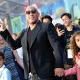 Vin Diesel et ses enfants Hania Riley et Vincent Sinclair - Avant-première des Gardiens de la galaxie 2 à Hollywood en salles le 19 avril 2017 © Chris Delmas/Bestimage
