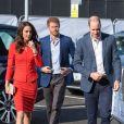 Kate Middleton, duchesse de Cambridge, le prince William et le prince Harry inauguraient ensemble le 20 avril 2017 la Global Academy de Hayes, à l'ouest de Londres, qui forment des étudiants aux métiers des médias.