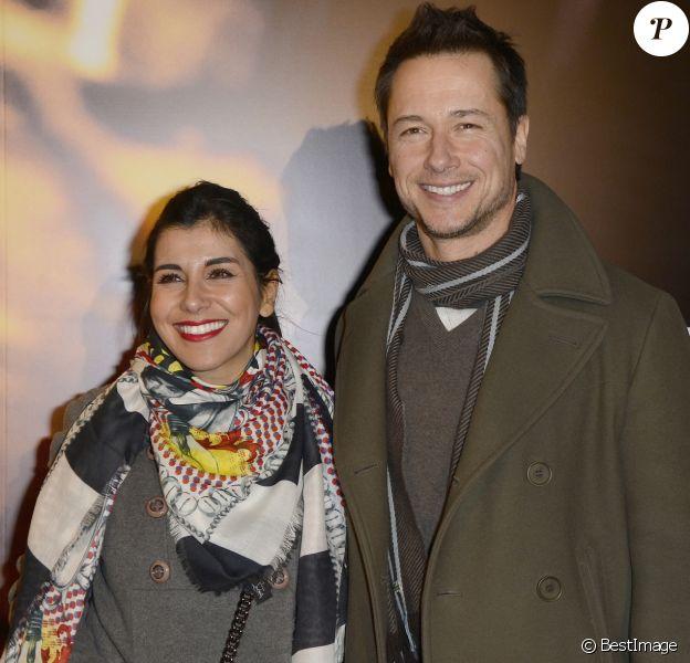 """Stéphane Rousseau et sa compagne Reem Kherici - Avant-première du film """"Mea Culpa"""" au cinéma Gaumont Opéra a Paris, le 2 février 2014."""