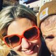 Michele Scarponi et sa compagne Emma, photo Instagram le 27 décembre 2016. Le coureur cycliste italien de l'équipe Astana a été tué samedi 22 avril 2017 par un camion lors d'une sortie d'entraînement près de chez lui dans la province d'Ancône.