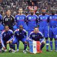 Nicolas Anelka avec l'équipe de France le 26 mars 2008 lors d'un match amical contre l'Angleterre au Stade de France.