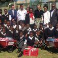 La princesse Charlene de Monaco de retour à l'école primaire Gugulesizwe à Benoni en Afrique du Sud, où elle avait lancé en 2012 sa fondation. Photo Instagram @saredcross (Croix-Rouge sud-africaine)