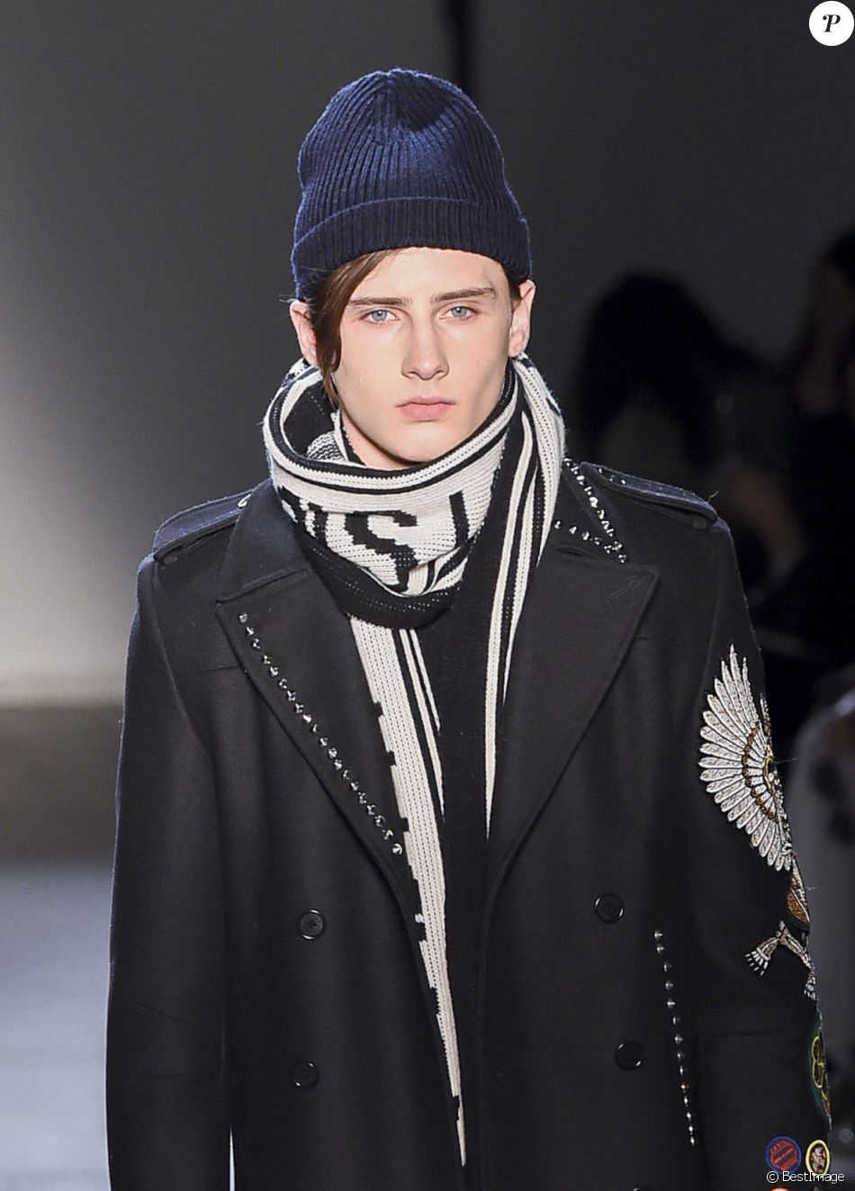 Noé Elmaleh - Défilé de mode Zadig & Voltaire collection prêt-à-porter Automne Hiver 2017-2018 lors de la fashion week à New York, le 13 février 2017.
