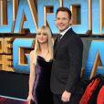 """Chris Pratt et sa femme Anna Faris lors de la première du film """"Les Gardiens de la Galaxie Vol. 2"""" à Londres, Royaume Uni, le 24 avril 2017."""