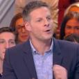 """Matthieu Delormeau sur le plateau de """"Touche pas à mon poste"""" sur C8. Le 5 avril 2017."""