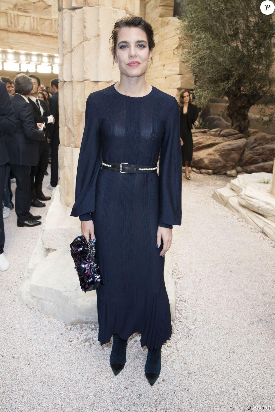 Charlotte Casiraghi - Défilé Chanel, collection croisière 2018 au Grand Palais à Paris. Le 3 mai 2017. © Olivier Borde/ Bestimage