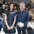 Anna Mouglalis et Antoine de Caunes - Défilé Chanel, collection croisière 2018 au Grand Palais à Paris. Le 3 mai 2017.  © Olivier Borde/ Bestimage