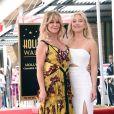 Goldie Hawn avec sa fille Kate Hudson - Goldie Hawn et son compagnon Kurt Russell reçoivent leurs étoiles sur le Walk of Fame au 6201 Hollywood blvd à Hollywood, le 4 mai 2017