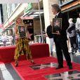 Goldie Hawn et son compagnon Kurt Russell reçoivent leurs étoiles sur le Walk of Fame au 6201 Hollywood blvd à Hollywood, le 4 mai 2017