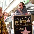 Goldie Hawn et son compagnon Kurt Russell avec Quentin Tarantino - Goldie Hawn et son compagnon Kurt Russell reçoivent leurs étoiles sur le Walk of Fame au 6201 Hollywood blvd à Hollywood, le 4 mai 2017