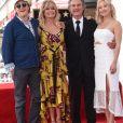 Kurt Russell avec sa compagne Goldie Hawn et leurs enfants respectifs, Boston Russell et Kate Hudson - Goldie Hawn et son compagnon Kurt Russell reçoivent leurs étoiles sur le Walk of Fame au 6201 Hollywood blvd à Hollywood, le 4 mai 2017