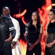 Vin Diesel, Tyrese Gibson, Michelle Rodriguez et Jordana Brewster recevant le MTV Generation Award pour la franchise Fast and Furious à Los Angeles le 7 mai 2017