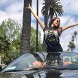 Nabilla passe un moment de rêve à Coachella (Californie). Avril 2017.