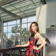 Exclusif - Camille Lou (robe Christophe Guillarmé et bijoux Mounier et Bouvard) - 10ème édition du Casa Fashion Show by Kenza Cheddadi à l'hôtel Sofitel Tour Blanche à Casablanca, le 15 avril 2017.