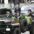 Emmanuel Macron arrive à l'Arc de Triomphe - Cérémonie d'hommage au soldat inconnu à l'Arc à de Triomphe à Paris, le 14 mai 2017. © Pierre Perusseau/Bestimage