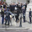 Emmanuel Macron à l'Arc de Triomphe - Cérémonie d'hommage au soldat inconnu à l'Arc à de Triomphe à Paris, le 14 mai 2017. © Pierre Perusseau/Bestimage