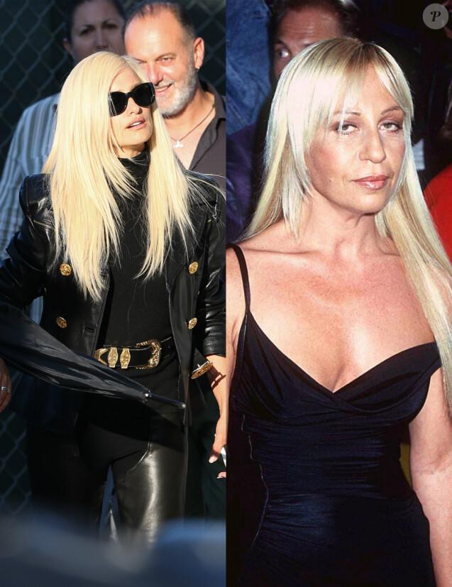 Près de 20 ans séparent ces photos de Penélope Cruz (à Miami le 15 mai 2017) et Donatella Versace (à New York en octobre 1997).