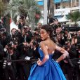 "Winnie Harlow - Montée des marches du film ""Nelyubov"" (Loveless)lors du 70ème Festival International du Film de Cannes. Le 18 mai 2017. © Borde-Jacovides-Moreau / Bestimage"