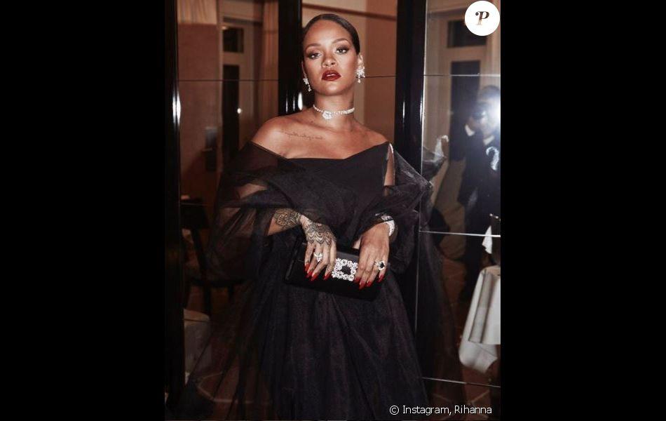"""Dîner de présentation et lancement des collections de joaillerie et Haute Joaillerie """"Rihanna ♥ Chopard"""". Cannes, le 18 mai 2017."""