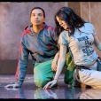 Kamel et Sofia durant les répétitions de la comédie musicale  Cléopâtre . 21/01/09