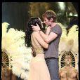 Sofia et Chris Stills durant les répétitions de la comédie musicale  Cléopâtre . 21/01/09