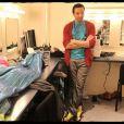 Kamel en coulisses durant les répétitions de la comédie musicale  Cléopâtre . 21/01/09
