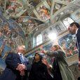 Donald Trump et sa femme Melania visitent la Chapelle Sixtine au Vatican, le 24 mai 2017