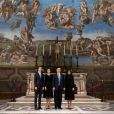 Jared Kushner, Ivanka Trump, Donald Trump et Melania Trumpvisitent la Chapelle Sixtine au Vatican, le 24 mai 2017