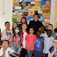 Melania Trump rend visite aux enfants du Bambino Gesu Pediatric Hospital à Rome, le 24 mai 2017